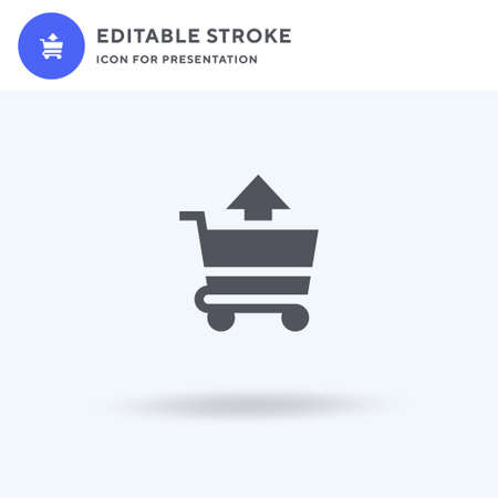 Shopping Cart icon vector, filled flat sign, solid pictogram isolated on white, logo illustration. Shopping Cart icon for presentation.