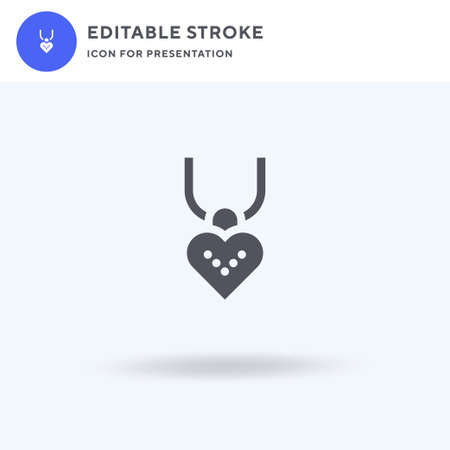 Necklace icon vector, filled flat sign, solid pictogram isolated on white, logo illustration. Necklace icon for presentation. Ilustrace