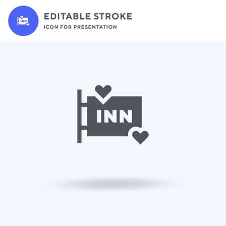 Inn icon vector, filled flat sign, solid pictogram isolated on white, logo illustration. Inn icon for presentation. 일러스트