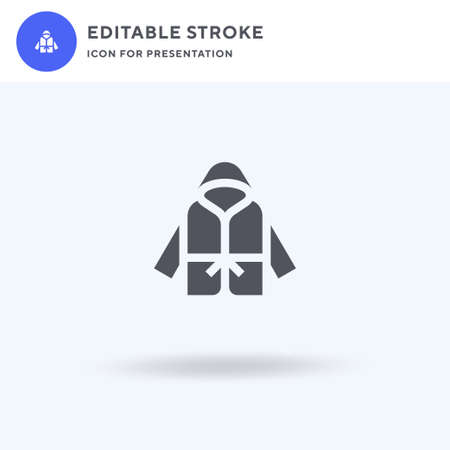 Bathrobe icon vector, filled flat sign, solid pictogram isolated on white,   illustration. Bathrobe icon for presentation.