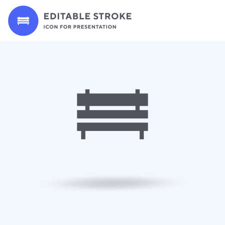 Bench icon vector, filled flat sign, solid pictogram isolated on white,   illustration. Bench icon for presentation. Vectores