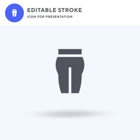 Yoga Pants icon vector, filled flat sign, solid pictogram isolated on white,   illustration. Yoga Pants icon for presentation. Vectores