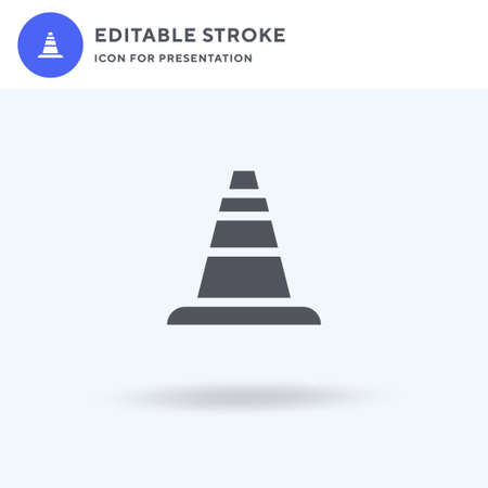 Cone icon vector, filled flat sign, solid pictogram isolated on white,   illustration. Cone icon for presentation.