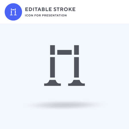 Barrier icon vector, filled flat sign, solid pictogram isolated on white,   illustration. Barrier icon for presentation.