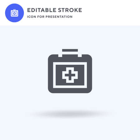 First Aid Kit icon vector, filled flat sign, solid pictogram isolated on white,  illustration. First Aid Kit icon for presentation.