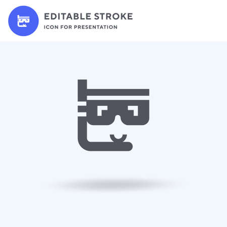 Snorkel icon vector, filled flat sign, solid pictogram isolated on white,  illustration. Snorkel icon for presentation.