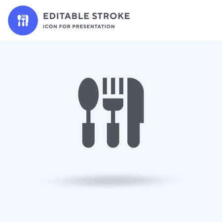 Cutlery icon vector, filled flat sign, solid pictogram isolated on white,  illustration. Cutlery icon for presentation.