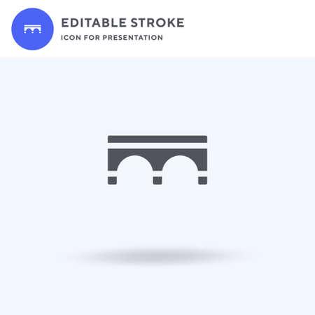 Bridge icon vector, filled flat sign, solid pictogram isolated on white illustration. Bridge icon for presentation.