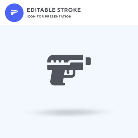 Hand Gun icon vector, filled flat sign, solid pictogram isolated on white, logo illustration. Hand Gun icon for presentation.