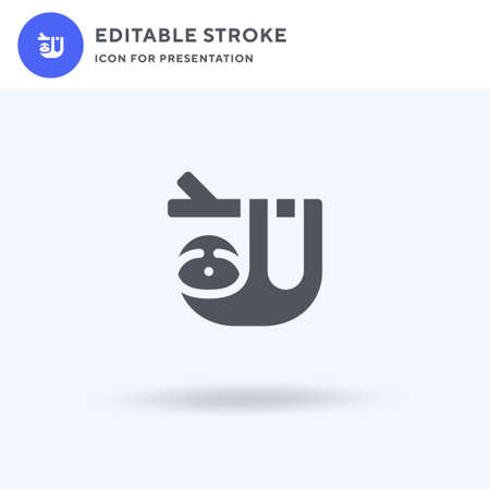 Sloth icon vector, filled flat sign, solid pictogram isolated on white, logo illustration. Sloth icon for presentation.