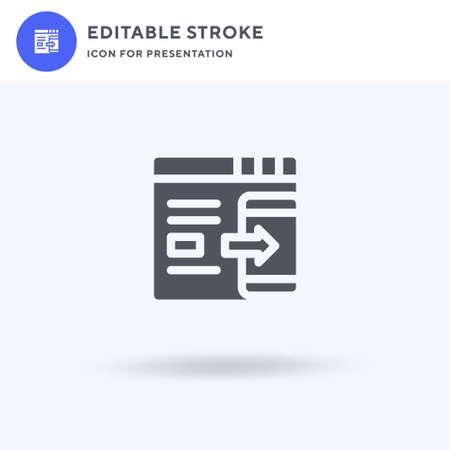 Shrink icon vector, filled flat sign, solid pictogram isolated on white, logo illustration. Shrink icon for presentation. Ilustração