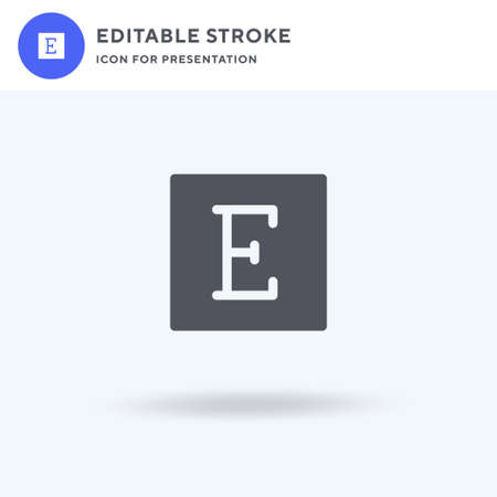 Etsy icon vector, filled flat sign, solid pictogram isolated on white, logo illustration. Etsy icon for presentation.