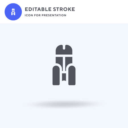 Throne icon vector, filled flat sign, solid pictogram isolated on white, logo illustration. Throne icon for presentation.