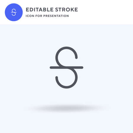 Strikethrough icon vector, filled flat sign, solid pictogram isolated on white, logo illustration. Strikethrough icon for presentation.
