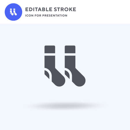 Socks icon vector, filled flat sign, solid pictogram isolated on white, logo illustration. Socks icon for presentation.