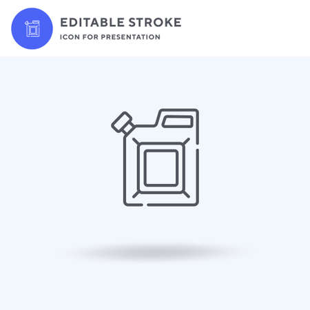 Jerrycan icon vector, filled flat sign, solid pictogram isolated on white, logo illustration. Jerrycan icon for presentation. 일러스트