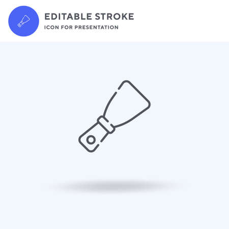 Putty Knife icon vector, filled flat sign, solid pictogram isolated on white, logo illustration. Putty Knife icon for presentation.