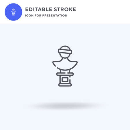 Statue icon vector, filled flat sign, solid pictogram isolated on white, logo illustration. Statue icon for presentation.
