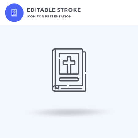 Bible icon vector, filled flat sign, solid pictogram isolated on white, logo illustration. Bible icon for presentation.