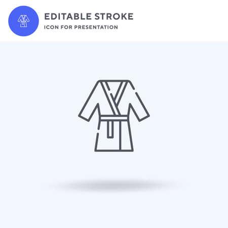 Bathrobe icon vector, filled flat sign, solid pictogram isolated on white, logo illustration. Bathrobe icon for presentation.