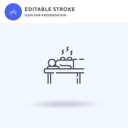 Massage icon vector, filled flat sign, solid pictogram isolated on white, logo illustration. Massage icon for presentation.