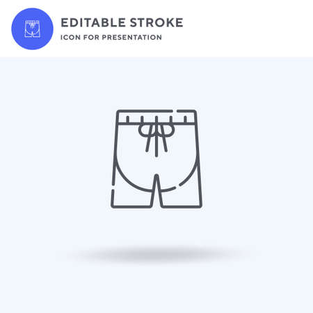 Shorts icon vector, filled flat sign, solid pictogram isolated on white, logo illustration. Shorts icon for presentation. Illusztráció