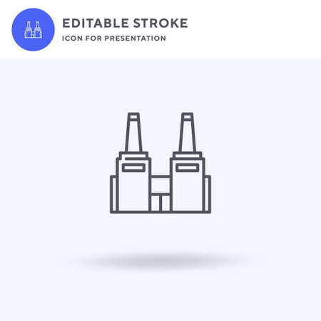 Industry icon vector, filled flat sign, solid pictogram isolated on white, logo illustration. Industry icon for presentation. Illustration