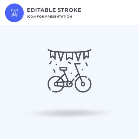 Bike icon vector, filled flat sign, solid pictogram isolated on white, logo illustration. Bike icon for presentation.