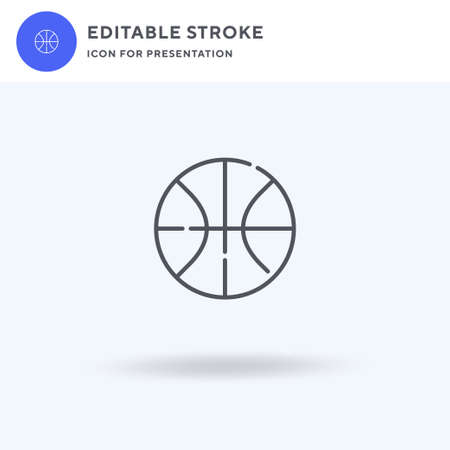 Basketball icon vector, filled flat sign, solid pictogram isolated on white, logo illustration. Basketball icon for presentation. Illustration