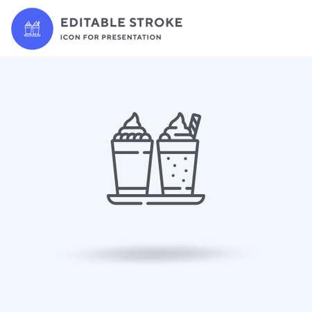 Milkshake icon vector, filled flat sign, solid pictogram isolated on white, logo illustration. Milkshake icon for presentation.