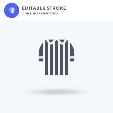 Referee icon vector, filled flat sign, solid pictogram isolated on white, logo illustration. Referee icon for presentation.