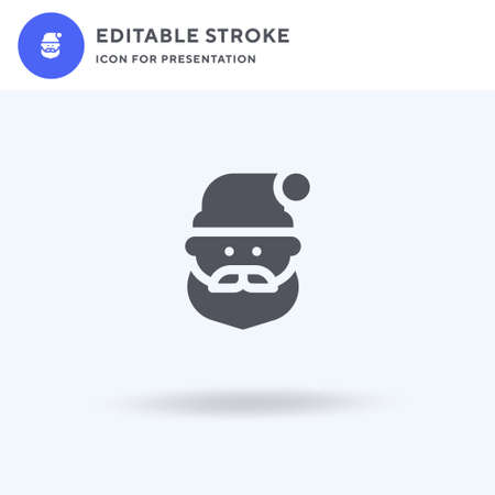Santa Claus icon vector, filled flat sign, solid pictogram isolated on white, logo illustration. Santa Claus icon for presentation.