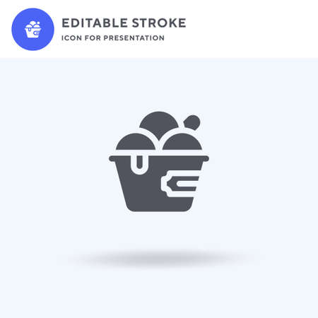 Ice Cream icon vector, filled flat sign, solid pictogram isolated