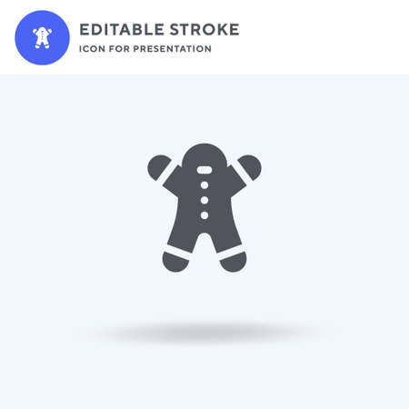 Gingerbread icon vector, filled flat sign, solid pictogram isolated Ilustração
