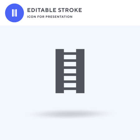 Ladder icon vector, filled flat sign, solid pictogram isolated on white, logo illustration. Ladder icon for presentation.