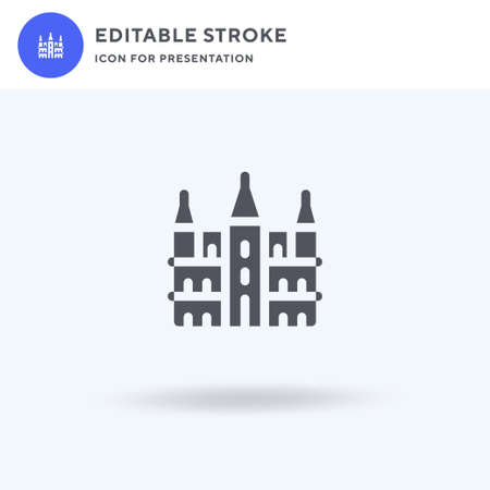 Brussels Town Hall icon vector, filled flat sign, solid pictogram isolated on white, logo illustration. Brussels Town Hall icon for presentation.