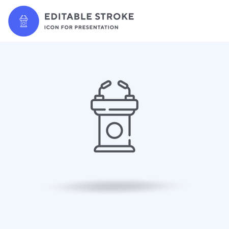 Lectern icon vector, filled flat sign, solid pictogram isolated on white, logo illustration. Lectern icon for presentation.