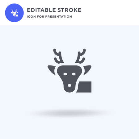 Deer icon vector, filled flat sign, solid pictogram isolated on white, logo illustration. Deer icon for presentation. Ilustracja