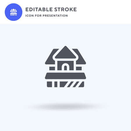 House icon vector, filled flat sign, solid pictogram isolated on white, logo illustration. House icon for presentation. Ilustracja
