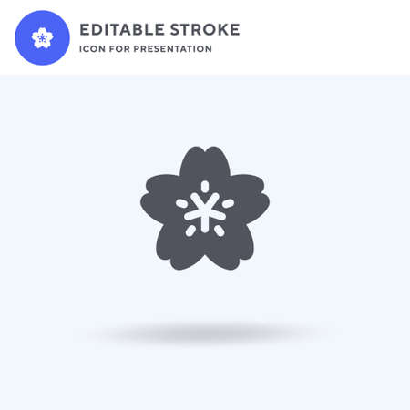 Blossom icon vector, filled flat sign, solid pictogram isolated on white, logo illustration. Blossom icon for presentation.