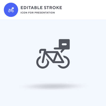 Bycicle icon vector, filled flat sign, solid pictogram isolated on white, logo illustration. Bycicle icon for presentation.