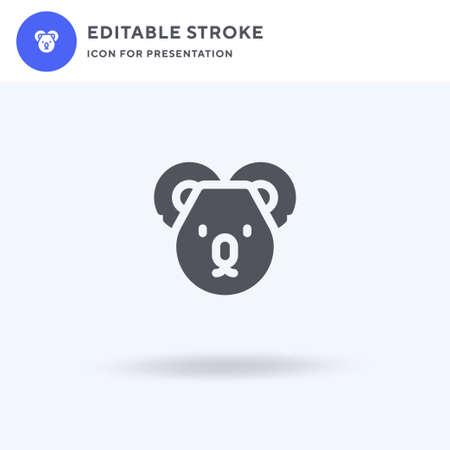 Koala icon vector, filled flat sign, solid pictogram isolated on white, logo illustration. Koala icon for presentation. Vettoriali