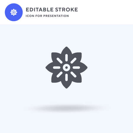 Anise icon vector, filled flat sign, solid pictogram isolated on white, logo illustration. Anise icon for presentation.