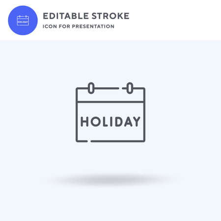 Holiday icon vector, filled flat sign, solid pictogram isolated on white, logo illustration. Holiday icon for presentation.