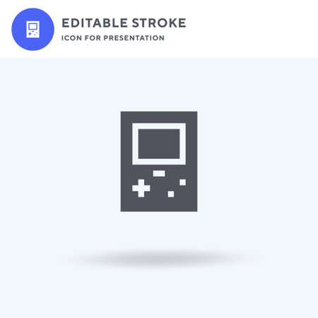 Video Console icon vector, filled flat sign, solid pictogram isolated on white, logo illustration. Video Console icon for presentation.