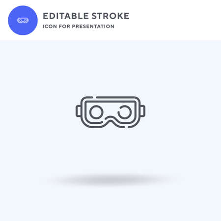 Virtual Reality Glasses icon vector, filled flat sign, solid pictogram isolated on white, logo illustration. Virtual Reality Glasses icon for presentation.