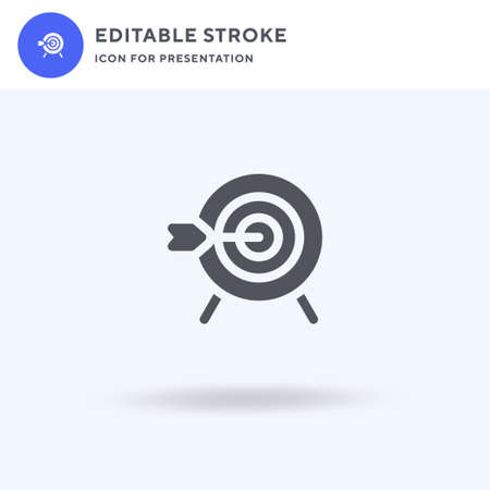 Bullseye icon vector, filled flat sign, solid pictogram isolated on white, logo illustration. Bullseye icon for presentation. 일러스트