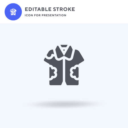 Hawaiian Shirt icon vector, filled flat sign, solid pictogram isolated on white, logo illustration. Hawaiian Shirt icon for presentation.