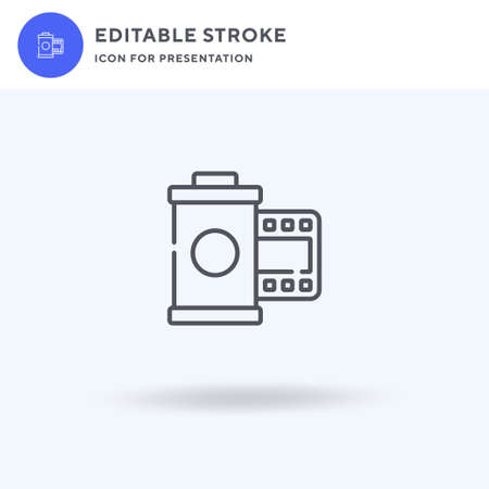Camera Roll icon vector, filled flat sign, solid pictogram isolated on white, logo illustration. Camera Roll icon for presentation. Ilustracja