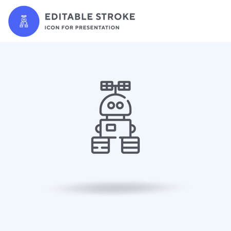 Robot icon vector, filled flat sign, solid pictogram isolated on white, logo illustration. Robot icon for presentation.